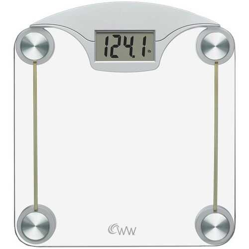Conair(R) WW39Y Weight Watchers(R) Digital Glass & Chrome Scale