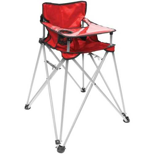 Creative Outdoor Distributor(TM) 810379 Folding Baby High Chair (Red)
