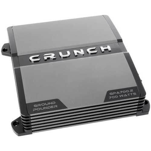 Crunch(R) GPA700.2R Refurbished Ground Pounder 700-Watt 2-Channel Class AB Amp