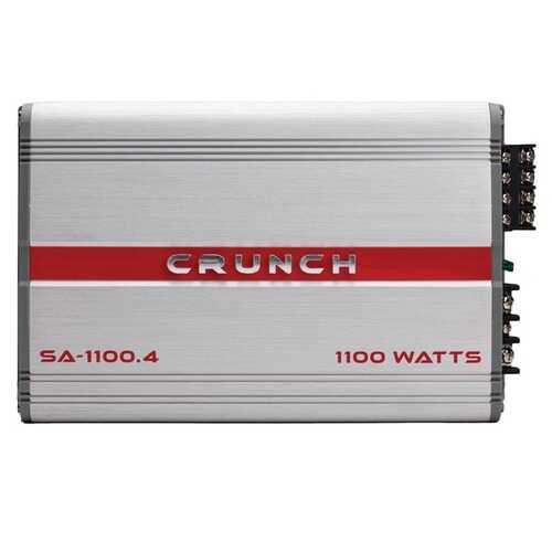 Crunch SA-1100.4 Smash Series 1,100-Watt 4-Channel Class AB Amp