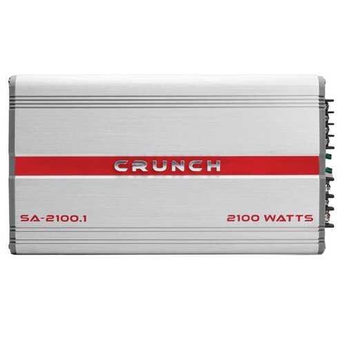 Crunch SA-2100.1 Smash Series 2,100-Watt Monoblock Class AB Amp