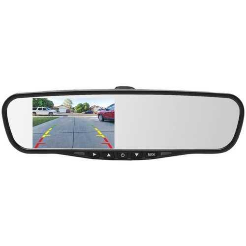"CrimeStopper(TM) MIR-45BT MIR-45BT 4.5"" Universal Rearview Mirror with Built-in Bluetooth(R) & Microphone"