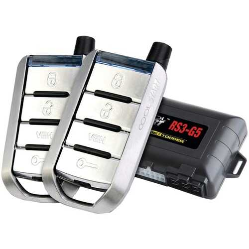 CrimeStopper RS3-G5 Cool-Start 1-Way 4-Button Remote-Start & Keyless-Entry System