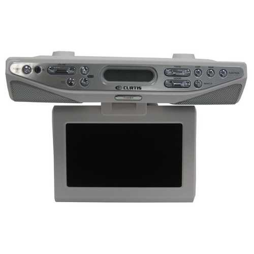 Curtis KCR2610 Under-Counter/Under-Cabinet 7-Inch TV Clock Radio