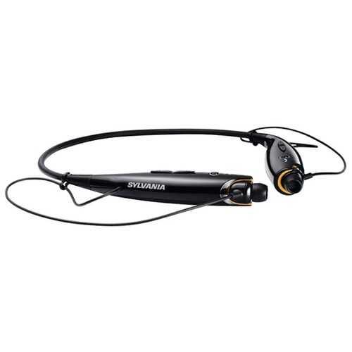 SYLVANIA SBT129-BLACK Bluetooth Sport Headphones with Microphone