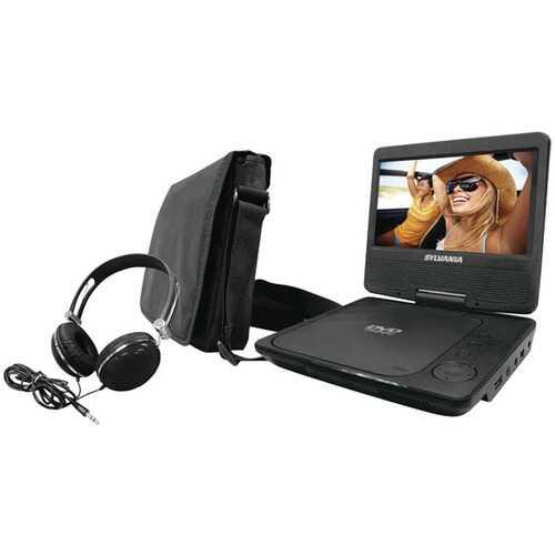 "SYLVANIA SDVD7060-COMBO-BLACK 7"" Swivel-Screen Portable DVD Player Bundle (Black)"