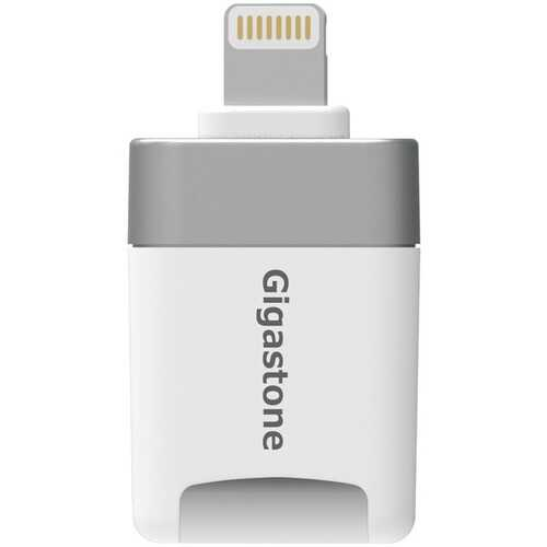 Gigastone GS-CR8600W-32GB-R i-FlashDrive microSD Card Reader for iPad & iPhone