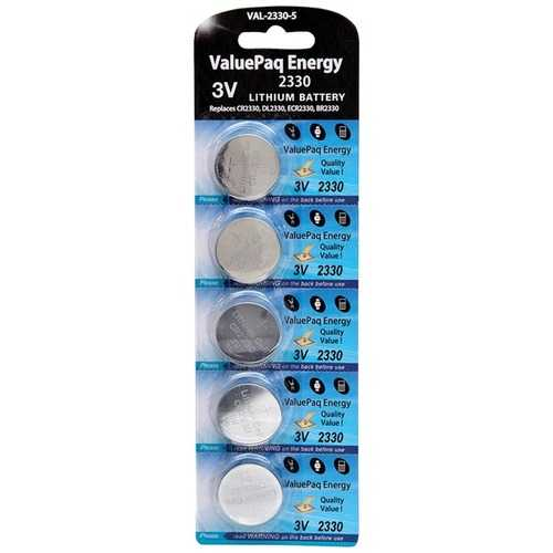 Dantona VAL-2330-5 ValuePaq Energy 2330 Lithium Coin Cell Batteries, 5 pk