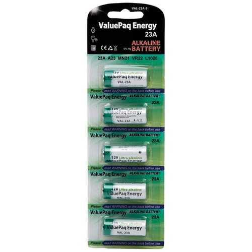 Dantona VAL-23A-5 ValuePaq Energy 23A Alkaline Cylindrical Batteries, 5 pk