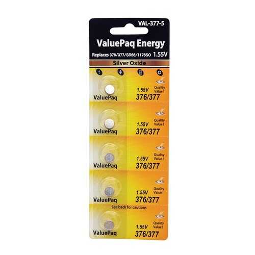Dantona VAL-377-5 UL377 Watch Battery (5 Pack)