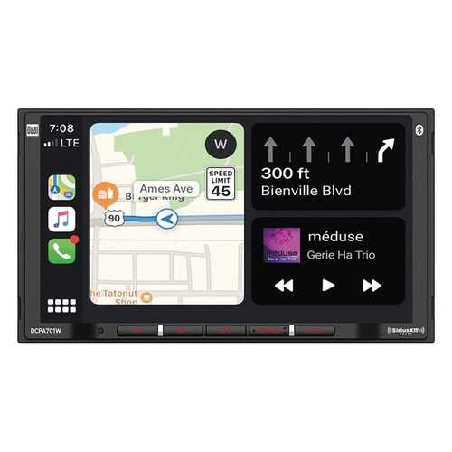 Dual DCPA701W 7-Inch Double-DIN In-Dash Digital Media Receiver with Bluetooth, Wireless Android Auto and Apple CarPlay
