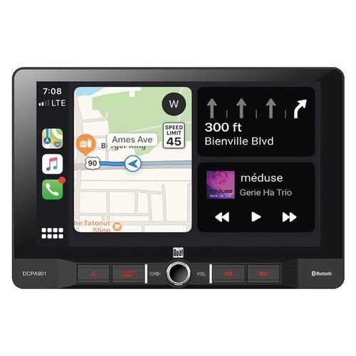 Dual DCPA901 9-Inch Single-DIN In-Dash Digital Media Receiver with Bluetooth, Android Auto and Wired Apple CarPlay