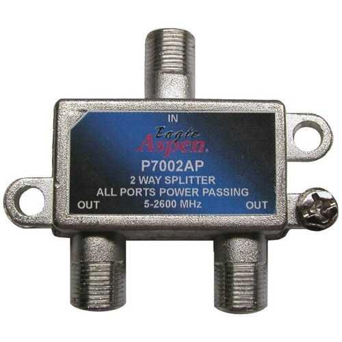 Eagle Aspen(R) 500309 2-Way 2,600MHz Splitter (all-port passing)