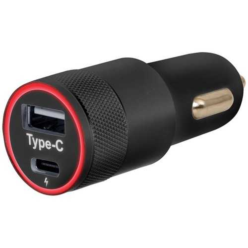 Helix ETHCCHGC Car Charger with USB-A & USB-C Ports
