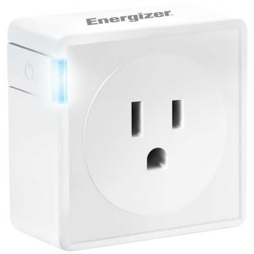ENERGIZER(R) CONNECT EIE3-1001-WHT Smart Plug with Energy Monitor