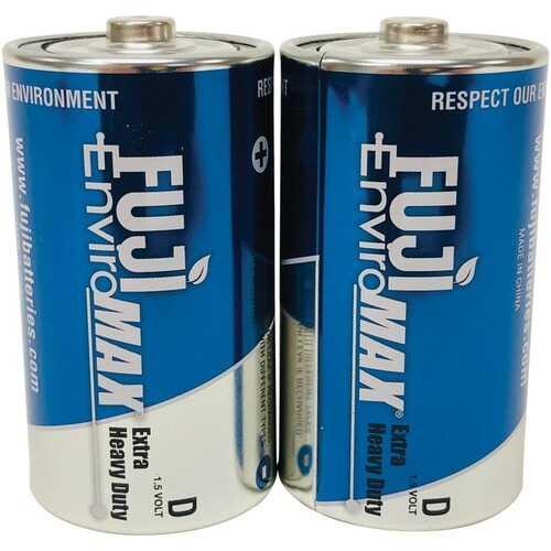 Fuji Batteries 3100BP2 EnviroMax D Extra Heavy-Duty Batteries, 2 pk