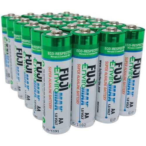 Fuji Batteries 4300BP24 EnviroMax AA Super Alkaline Batteries (24 pack)