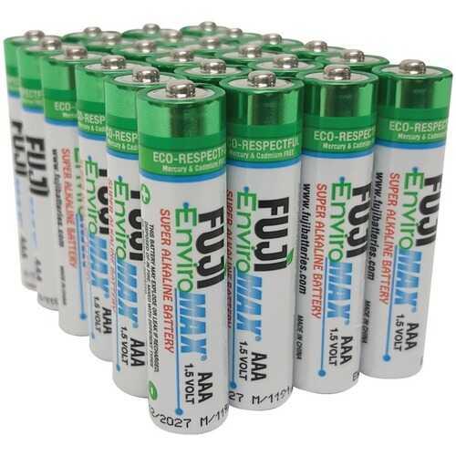 Fuji Batteries 4400BP24 EnviroMax AAA Super Alkaline Batteries (24 Pack)
