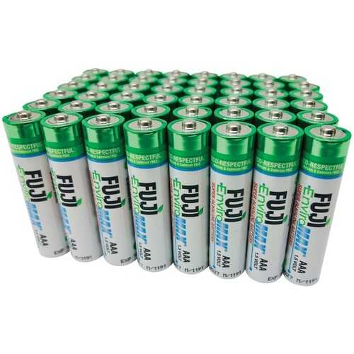 Fuji Batteries 4400SP48 EnviroMax AAA Super Alkaline Batteries (48 Pack)