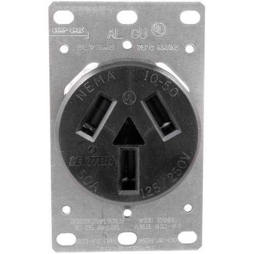 No Logo 5206 Single-Flush Range Receptacle (3 wire)