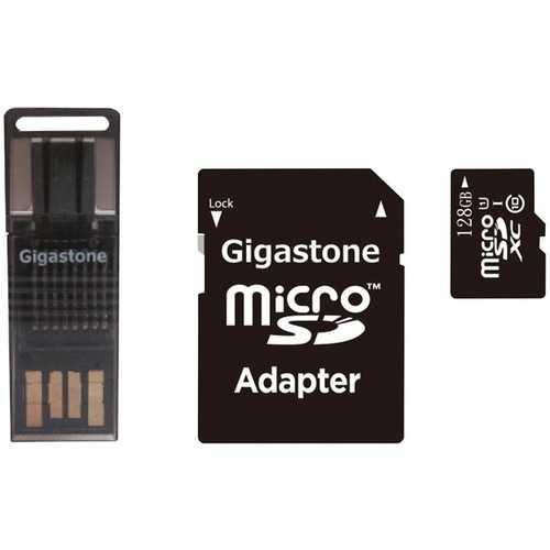 Gigastone GS-4IN1600X128GB-R Prime Series microSD Card 4-in-1 Kit (128GB)