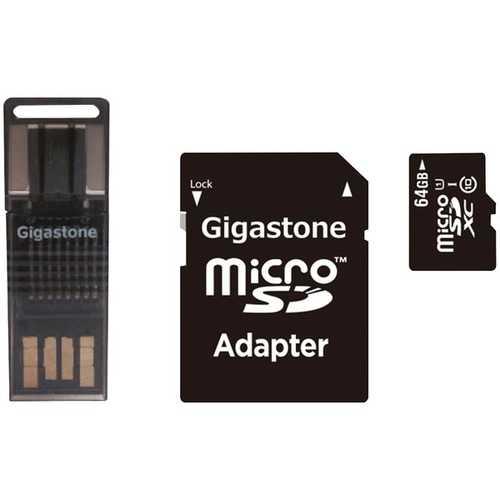 Gigastone GS-4IN1600X64GB-R Prime Series microSD Card 4-in-1 Kit (64GB)