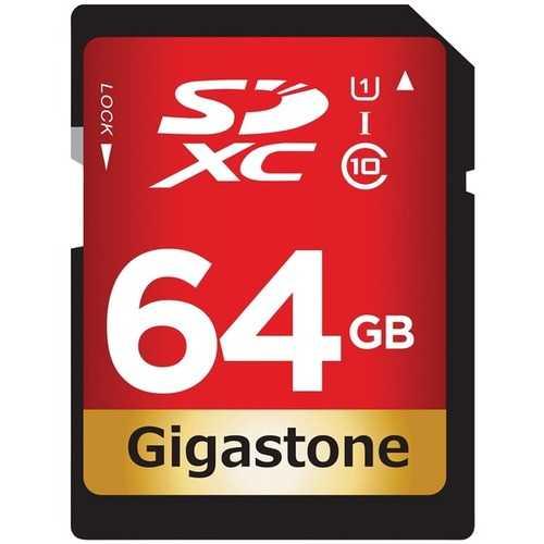 Gigastone GS-SDXC80U1-64GB-R Prime Series SDXC Card (64GB)