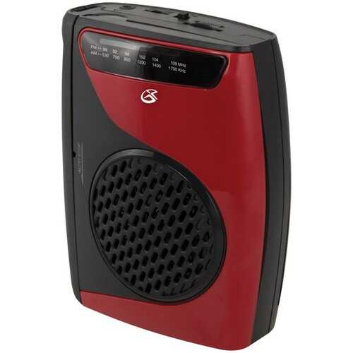 GPX CAS337B Cassette Player with AM/FM Radio