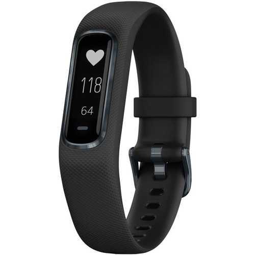 Garmin 010-01995-13 vivosmart 4 Activity Tracker (Black with Midnight Hardware, Large Wrists)