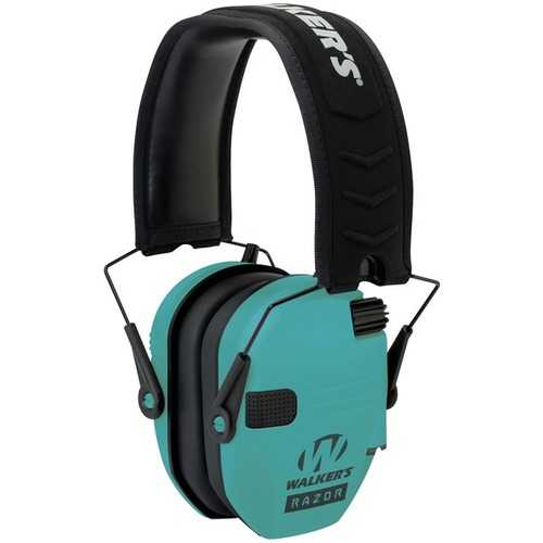 Walker's Game Ear GWP-RSEM-LTL Razor Electronic Muff (Light Teal)