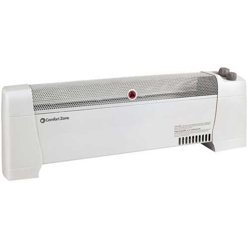 Comfort Zone CZ600 Low-Profile Baseboard Silent Operation Heater