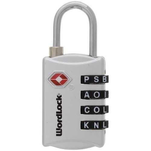 WordLock LL-207-SL 4-Dial Luggage Lock (Silver)