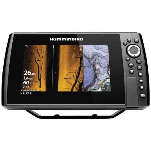 Humminbird 410830-1 HELIX 8 CHIRP MEGA SI+ GPS G3N Fishfinder with Bluetooth & Ethernet