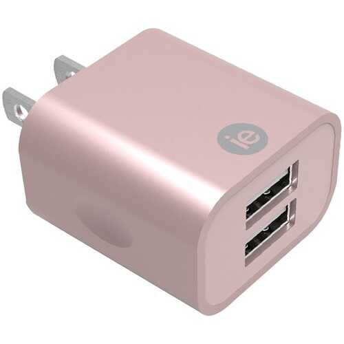 iEssentials IEN-AC22A-RGLD 2.4-Amp Dual USB Wall Charger (Rose Gold)