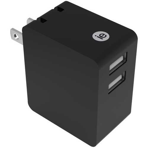 iEssentials IEN-AC32A-BK 3.4-Amp Dual USB Wall Charger
