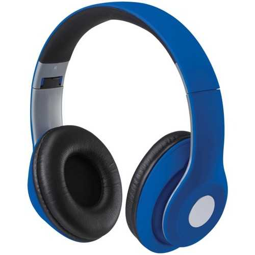 iLive IAHB48MBU Bluetooth Over-the-Ear Headphones with Microphone (Matte Blue)