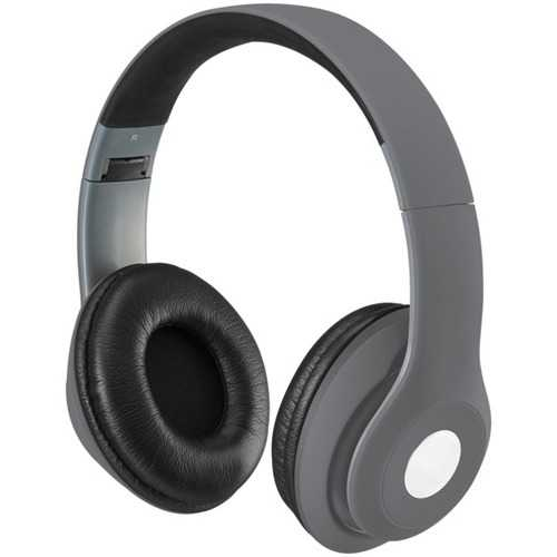 iLive IAHB48MG Bluetooth Over-the-Ear Headphones with Microphone (Matte Gray)