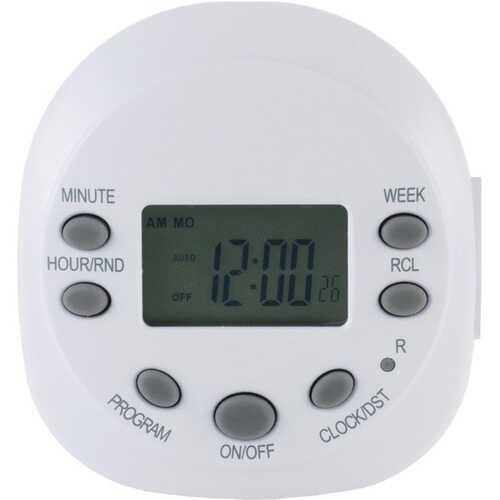 GE 15150 Indoor Plug-in 7-Day Digital Timer