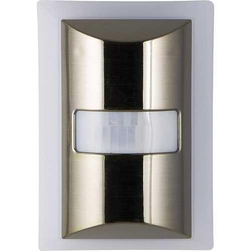 GE 36269 CoverLite 60-Lumen Motion-Boost LED Night-Light (Brushed Nickel)