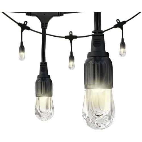 Enbrighten 31660 Classic LED Cafe Lights (12ft; 6 Acrylic Bulbs)