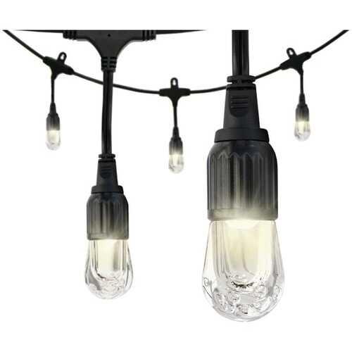 Enbrighten 31664 Classic LED Cafe Lights (48ft; 24 Acrylic Bulbs)