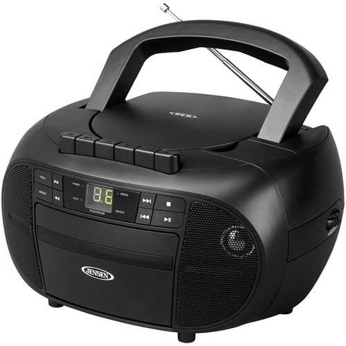JENSEN CD-550 Portable Stereo Cassette Recorder & CD Player with AM/FM Radio
