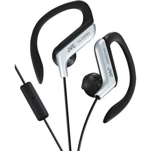 JVC(R) HAEBR80S In-Ear Sports Headphones with Microphone & Remote (Silver)