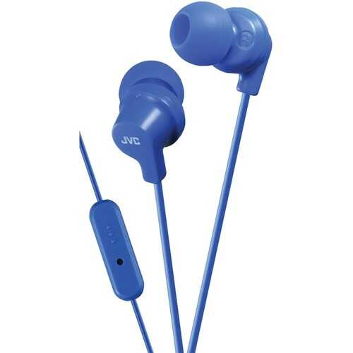 JVC HAFR15A In-Ear Headphones with Microphone (Blue)