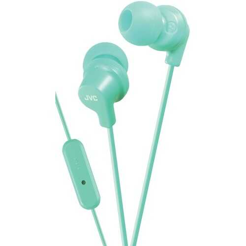 JVC HAFR15Z In-Ear Headphones with Microphone (Teal)