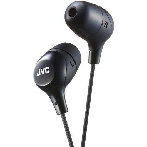 JVC HAFX38B Marshmallow Inner-Ear Headphones (Black)