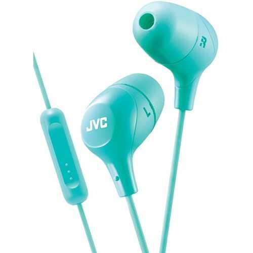 JVC HAFX38MG Marshmallow Inner-Ear Headphones with Microphone (Green)