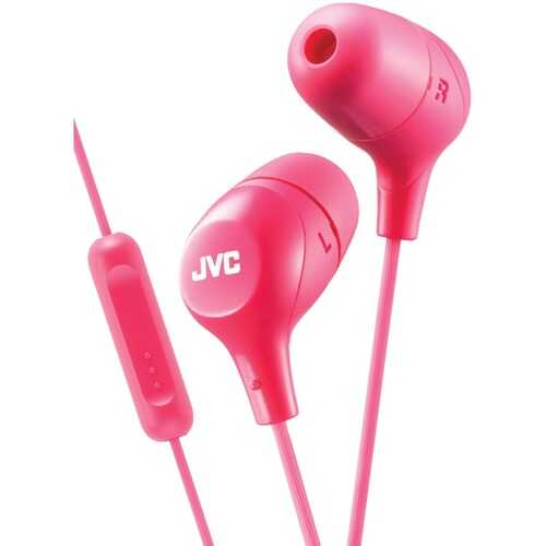 JVC HAFX38MP Marshmallow Inner-Ear Headphones with Microphone (Pink)