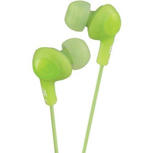 JVC HAFX5G Gumy Plus Inner-Ear Earbuds (Green)