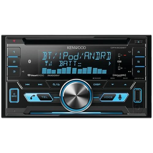KENWOOD DPX502BT Double-DIN In-Dash CD Receiver with Bluetooth(R) & SiriusXM(R) Ready